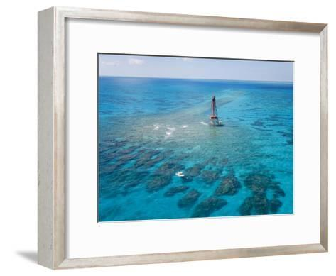 Coral Reefs Seen During Spring Low Tides at Sombrero Key Lighthouse-Mike Theiss-Framed Art Print