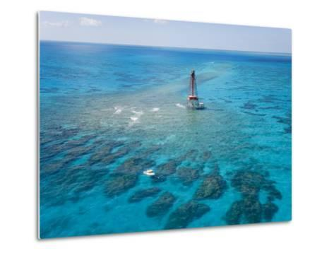 Coral Reefs Seen During Spring Low Tides at Sombrero Key Lighthouse-Mike Theiss-Metal Print