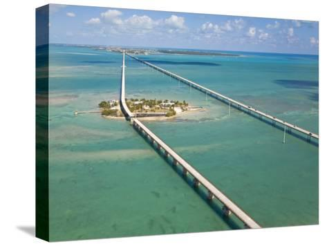 Seven Mile Bridge Crossing Pigeon Key and Connecting the Florida Keys-Mike Theiss-Stretched Canvas Print