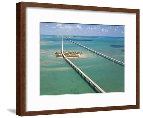 Seven Mile Bridge Crossing Pigeon Key and Connecting the Florida Keys-Mike Theiss-Framed Art Print