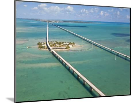 Seven Mile Bridge Crossing Pigeon Key and Connecting the Florida Keys-Mike Theiss-Mounted Photographic Print