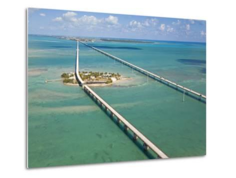 Seven Mile Bridge Crossing Pigeon Key and Connecting the Florida Keys-Mike Theiss-Metal Print