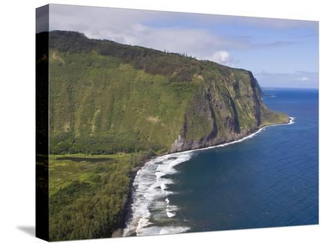 Waipio Valley and Large Coastal Cliffs on Hawaii-Mike Theiss-Stretched Canvas Print