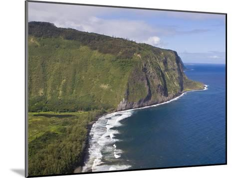 Waipio Valley and Large Coastal Cliffs on Hawaii-Mike Theiss-Mounted Photographic Print