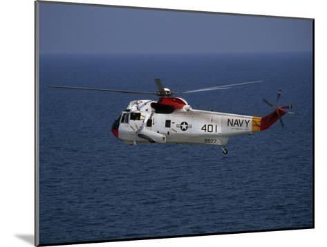 Helicopter from Pensacola Naval Station over the Gulf of Mexico-National Geographic Photographer-Mounted Photographic Print