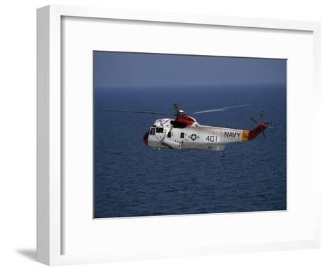 Helicopter from Pensacola Naval Station over the Gulf of Mexico-National Geographic Photographer-Framed Art Print