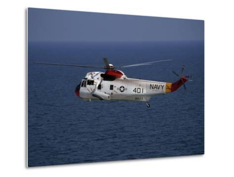 Helicopter from Pensacola Naval Station over the Gulf of Mexico-National Geographic Photographer-Metal Print