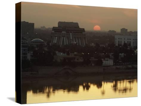 Baghdad and the Tigris River at Sunset-Lynn Abercrombie-Stretched Canvas Print