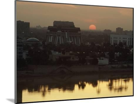 Baghdad and the Tigris River at Sunset-Lynn Abercrombie-Mounted Photographic Print