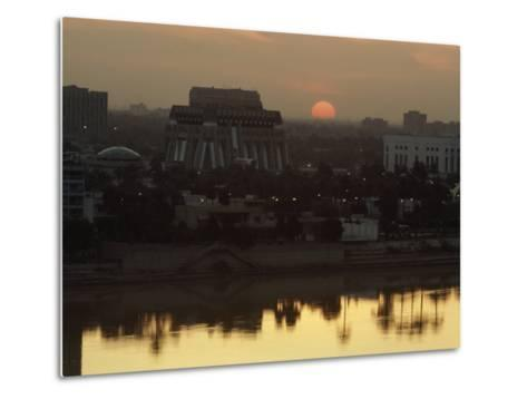 Baghdad and the Tigris River at Sunset-Lynn Abercrombie-Metal Print