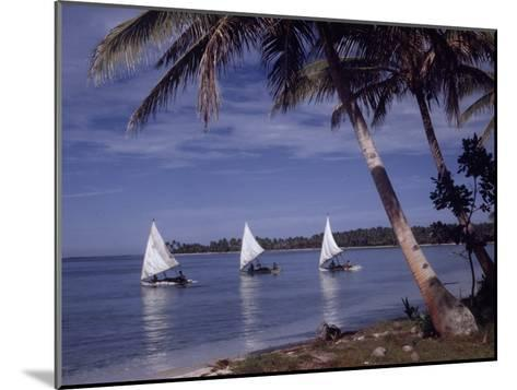Islanders Visit Various Atolls to Sell and Purchase Goods-W^ Robert Moore-Mounted Photographic Print