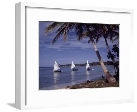 Islanders Visit Various Atolls to Sell and Purchase Goods-W^ Robert Moore-Framed Art Print