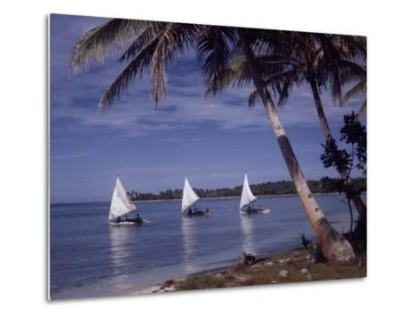 Islanders Visit Various Atolls to Sell and Purchase Goods-W^ Robert Moore-Metal Print