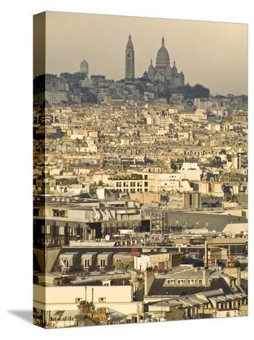 Elevated View of Paris with Montmartre and Sacre Coeur Basilica-Richard Nowitz-Stretched Canvas Print