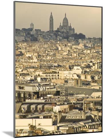 Elevated View of Paris with Montmartre and Sacre Coeur Basilica-Richard Nowitz-Mounted Photographic Print