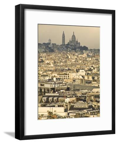 Elevated View of Paris with Montmartre and Sacre Coeur Basilica-Richard Nowitz-Framed Art Print