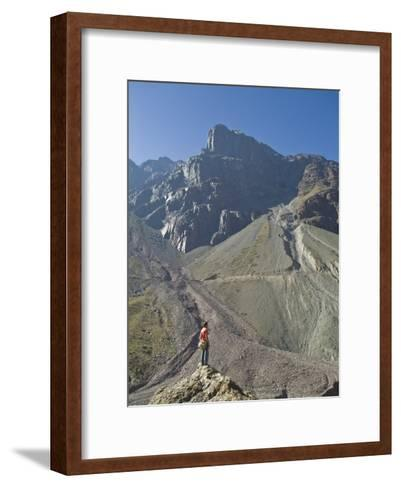 Hiking in El Morado Natural Monument in Chile's Andes Mountains-Richard Nowitz-Framed Art Print