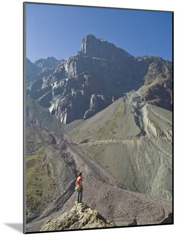 Hiking in El Morado Natural Monument in Chile's Andes Mountains-Richard Nowitz-Mounted Photographic Print