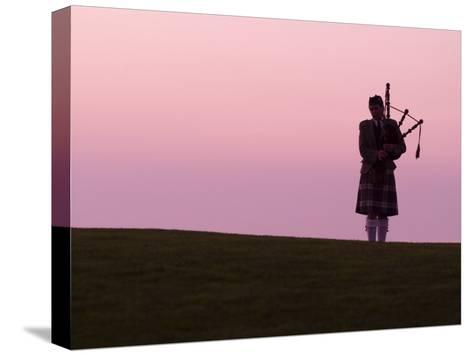 Bagpiper on a Golf Course-Richard Nowitz-Stretched Canvas Print