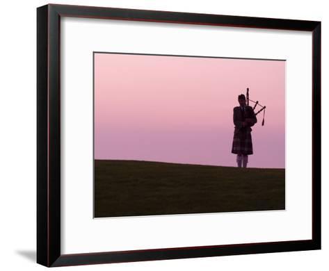 Bagpiper on a Golf Course-Richard Nowitz-Framed Art Print
