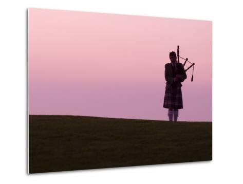 Bagpiper on a Golf Course-Richard Nowitz-Metal Print