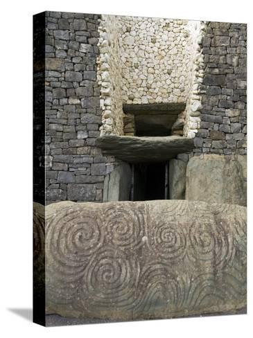Petrogyphs at the Entrance of Newgrange, a 5000 Year Old Passage Tomb-Rich Reid-Stretched Canvas Print