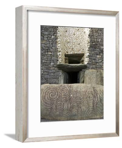 Petrogyphs at the Entrance of Newgrange, a 5000 Year Old Passage Tomb-Rich Reid-Framed Art Print