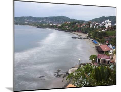 Waves Washing on the Beach in Zihuatanejo Bay Viewed from a Hotel-Rich Reid-Mounted Photographic Print