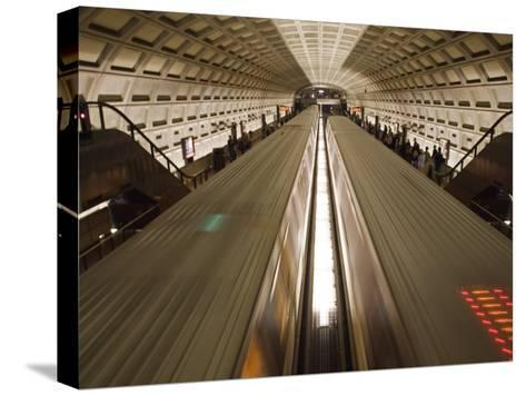 Two Trains Passing in the Dupont Circle Metro Station-Rich Reid-Stretched Canvas Print