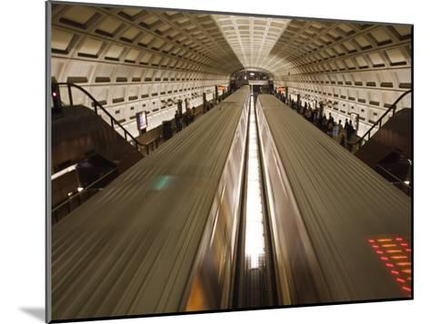 Two Trains Passing in the Dupont Circle Metro Station-Rich Reid-Mounted Photographic Print