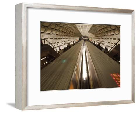 Two Trains Passing in the Dupont Circle Metro Station-Rich Reid-Framed Art Print