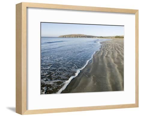 Waves Washing Up on Doran Beach at Bodega Bay-Rich Reid-Framed Art Print