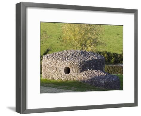 Rock Shelter Near the 5,000 Year Old Newgrange Passage Tomb-Rich Reid-Framed Art Print