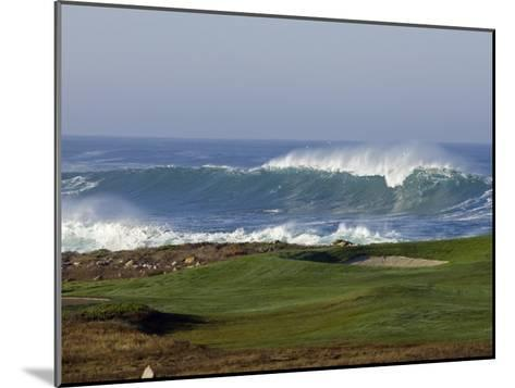 Waves Off Point Joe and Golf Course Green on Seventeen Mile Drive-Rich Reid-Mounted Photographic Print