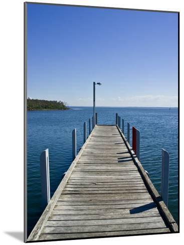 Small Jetty in a Sheltered and Secluded Bay on a Summers Morning-Jason Edwards-Mounted Photographic Print
