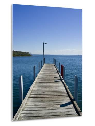 Small Jetty in a Sheltered and Secluded Bay on a Summers Morning-Jason Edwards-Metal Print