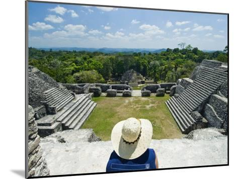 Young Woman Relazing at the Mayan Ruins at Caracol, Belize-James Forte-Mounted Photographic Print