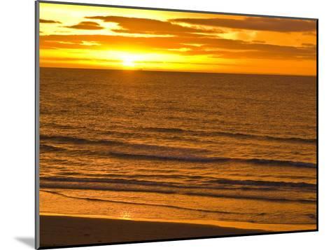 Dawn Rises Golden over Bass Straits Vast and Distant Horizon-Jason Edwards-Mounted Photographic Print