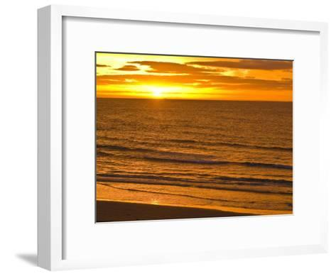 Dawn Rises Golden over Bass Straits Vast and Distant Horizon-Jason Edwards-Framed Art Print