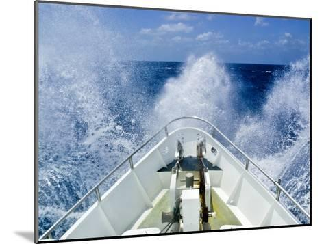 Bow of a Ship Ploughs Through Heavy Seas and Spray in Open Ocean-Jason Edwards-Mounted Photographic Print