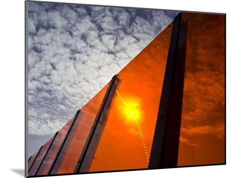 Bright Orange Sound Barrier by a Freeway-Jason Edwards-Mounted Photographic Print