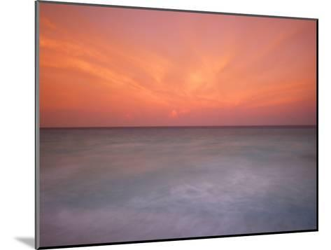 Sunset and Surf at Cancun Beach-Raul Touzon-Mounted Photographic Print