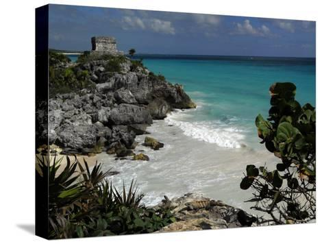 El Castillo on a Cliff Overlooking the Ocean-Raul Touzon-Stretched Canvas Print
