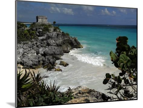 El Castillo on a Cliff Overlooking the Ocean-Raul Touzon-Mounted Photographic Print