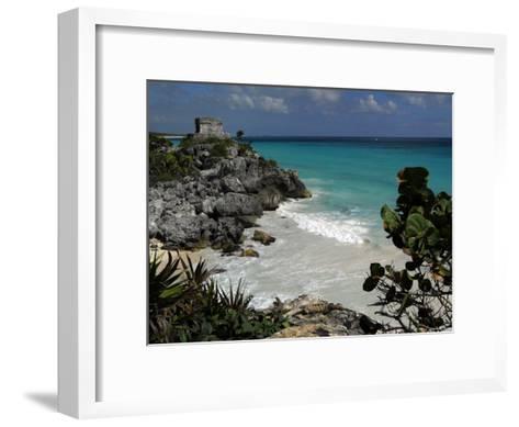 El Castillo on a Cliff Overlooking the Ocean-Raul Touzon-Framed Art Print