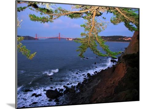 Golden Gate Bridge Seen from Legion of Honor, Mile Rock Beach Area-Raymond Gehman-Mounted Photographic Print