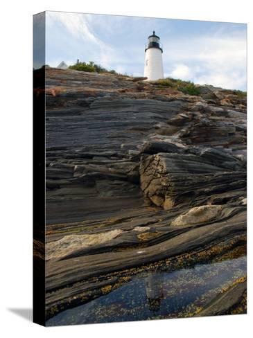 Pemaquid Lighthouse and its Reflection in a Tidal Pool-Darlyne A^ Murawski-Stretched Canvas Print