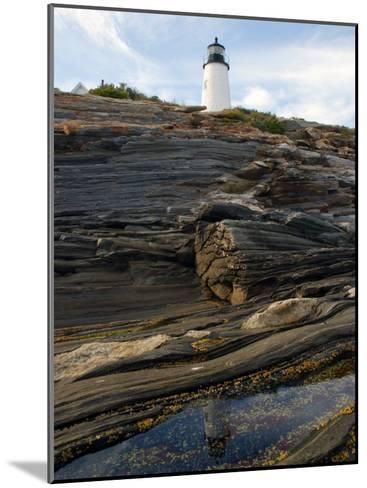 Pemaquid Lighthouse and its Reflection in a Tidal Pool-Darlyne A^ Murawski-Mounted Photographic Print