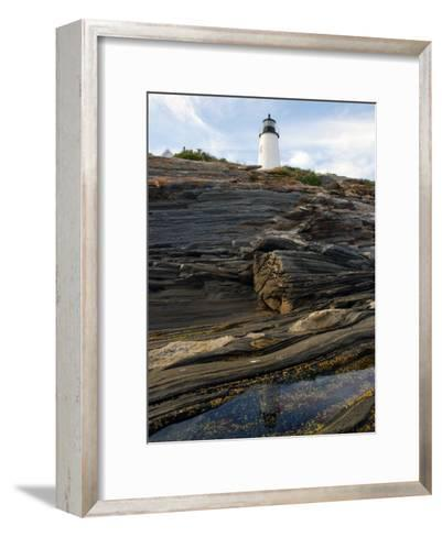 Pemaquid Lighthouse and its Reflection in a Tidal Pool-Darlyne A^ Murawski-Framed Art Print