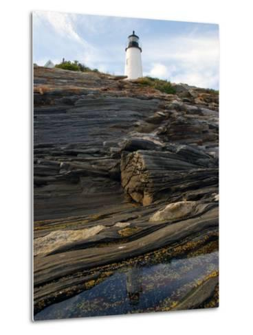 Pemaquid Lighthouse and its Reflection in a Tidal Pool-Darlyne A^ Murawski-Metal Print